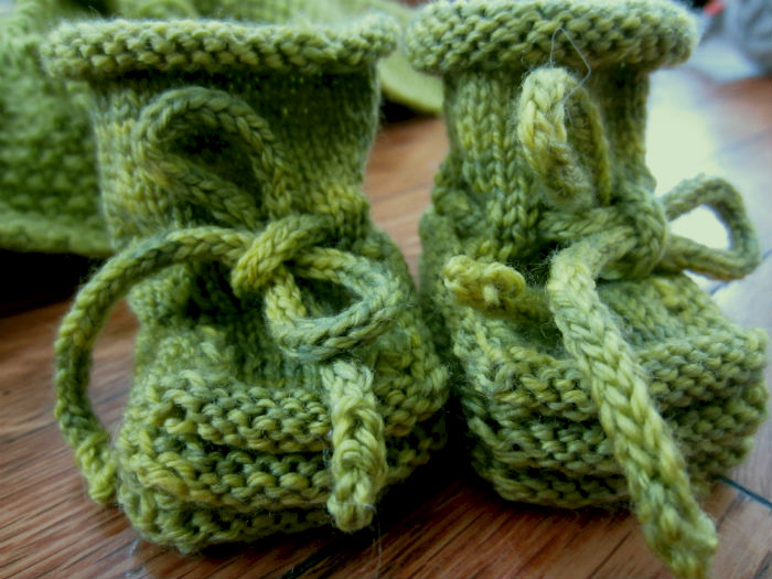 green stay on booties 2