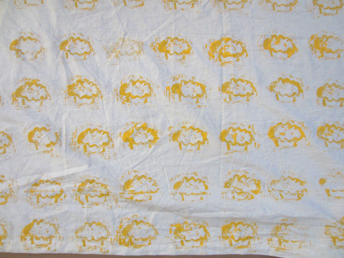 sheep on a blanket