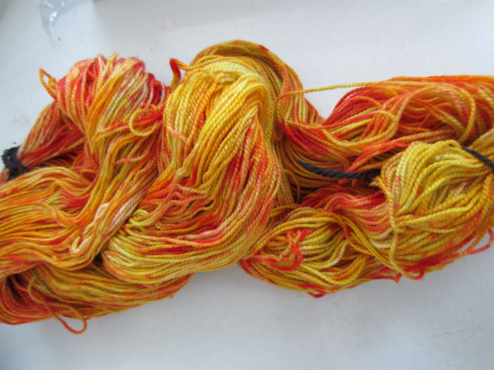Fire Flower Tie Dye Sock Yarn 3