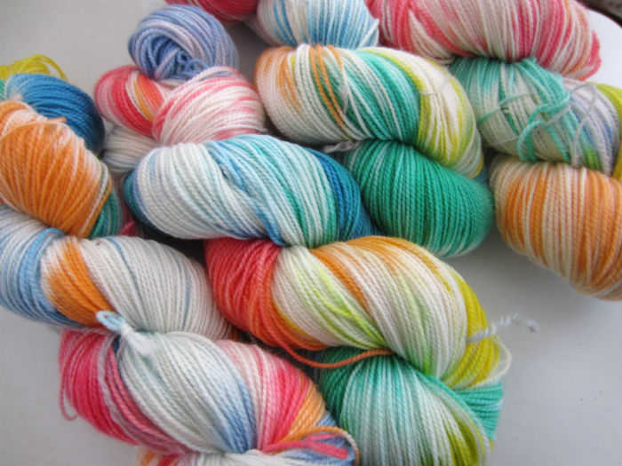 easter  rainbow sock yarn