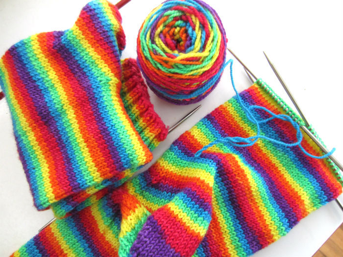 brocks rainbow socks