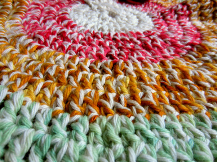 odds and ends crochet rugs