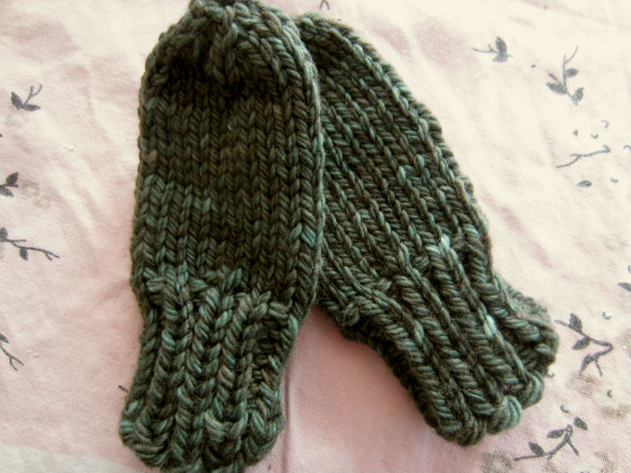Free Pattern Chunky Baby Mittens With No Thumb