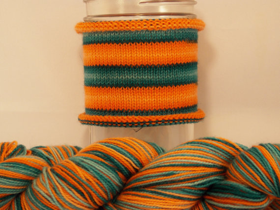self-striping sock yarn I found on etsy