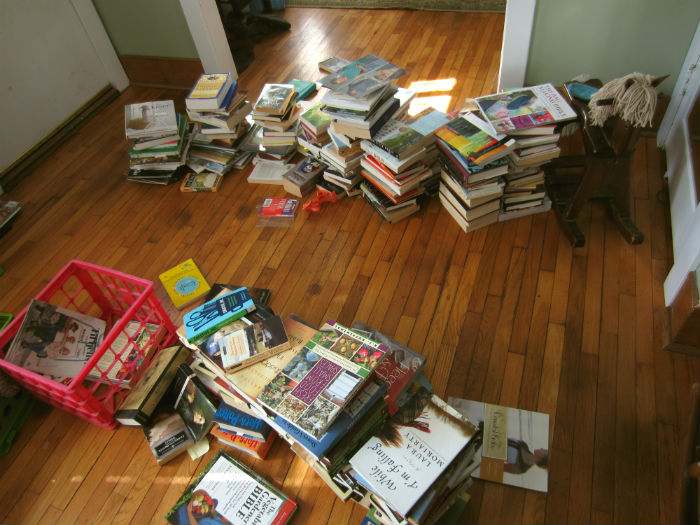 Secret, most of the discards are still in boxes on my back porch as I slowly find places to donate them.
