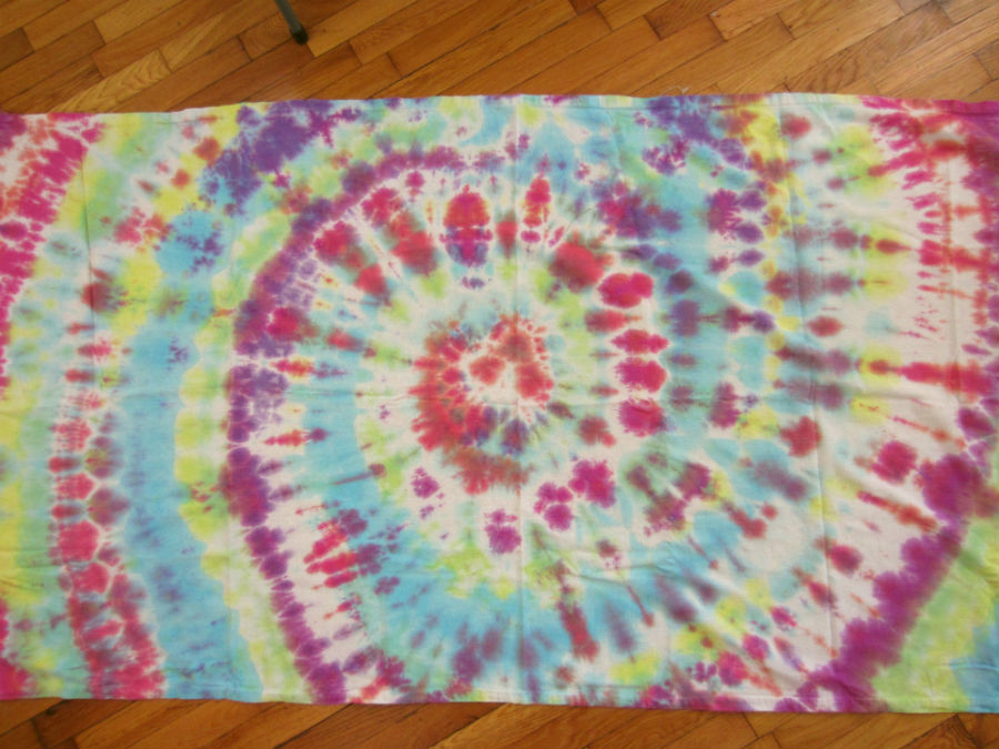 Tie Dyed Osnaburg for the Ring Sling